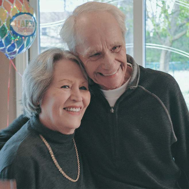 Fred Miller and his wife, Anita Farah Miller, pictured before her death in April 2020.